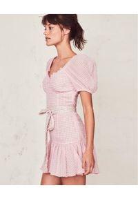 LOVE SHACK FANCY - Sukienka mini Catalina. Kolor: wielokolorowy, różowy, fioletowy. Materiał: materiał. Typ sukienki: rozkloszowane. Styl: elegancki. Długość: mini