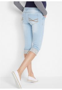 Niebieskie jeansy bonprix moda ciążowa, na lato