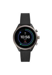 Czarny zegarek Fossil sportowy, smartwatch