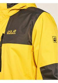 Żółta kurtka turystyczna Jack Wolfskin