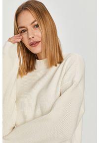 Kremowy sweter Answear Lab długi, na co dzień