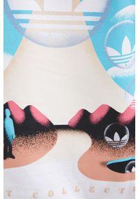 adidas Originals - T-shirt bawełniany. Okazja: na co dzień. Kolor: biały. Materiał: bawełna. Wzór: nadruk. Styl: casual