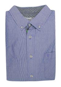 Niebieska koszula Pako Jeans casualowa, w paski, na co dzień, z długim rękawem