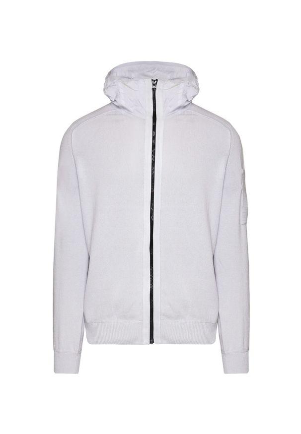 CP Company - Sweter z kapturem C.P. COMPANY COTTON MIXED. Okazja: na co dzień. Typ kołnierza: kaptur. Materiał: tkanina, bawełna. Długość rękawa: raglanowy rękaw. Wzór: aplikacja. Sezon: lato, wiosna. Styl: casual