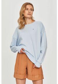 Niebieska bluza TOMMY HILFIGER z długim rękawem, bez kaptura