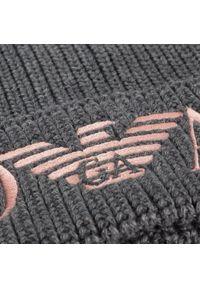 Szara czapka zimowa Emporio Armani