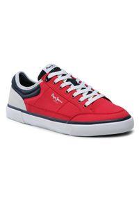 Pepe Jeans Tenisówki Kenton Sport Mesh PMS30698 Czerwony. Kolor: czerwony. Materiał: mesh. Styl: sportowy