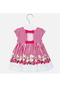 Różowa sukienka Mayoral prosta, casualowa, na co dzień