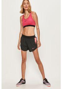 Czarne szorty Nike z nadrukiem, casualowe, na co dzień