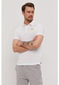 Biała koszulka polo Trussardi Jeans krótka, polo, gładkie, na co dzień