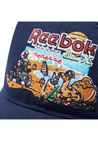 Niebieska czapka z daszkiem Reebok