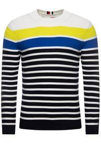 Sweter klasyczny TOMMY HILFIGER w kolorowe wzory