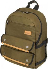 Brązowy plecak na laptopa National Geographic w paski