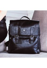 Czarny plecak DAAG casualowy