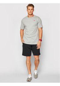 New Balance T-Shirt MT01660 Szary Slim Fit. Kolor: szary