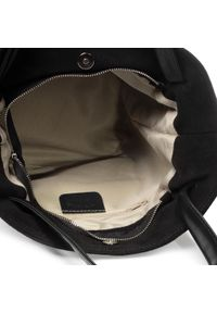Czarna torebka klasyczna Creole zamszowa, klasyczna