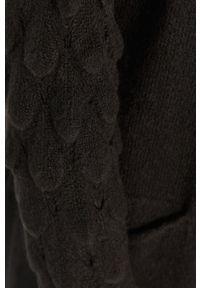 Czarny sweter rozpinany Answear Lab długi, z długim rękawem, na co dzień