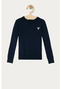 Niebieski sweter Guess casualowy, na co dzień, gładki
