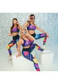 FJ! - Legginsy Muffins. Materiał: elastan, dzianina, satyna, poliester. Sport: fitness