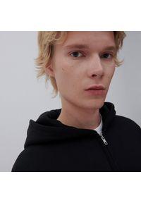 Reserved - Rozpinana bluza z bawełny organicznej - Czarny. Kolor: czarny. Materiał: bawełna