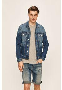 Niebieska kurtka Tommy Jeans bez kaptura, casualowa, na co dzień