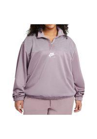 Bluza sportowa damska Nike AIR CZ8638. Typ kołnierza: kołnierzyk stójkowy. Materiał: dzianina, materiał, poliester. Wzór: gładki