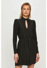 Czarna sukienka The Kooples casualowa, mini, na co dzień