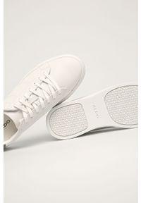 Białe sneakersy Aldo na sznurówki, z cholewką, z okrągłym noskiem