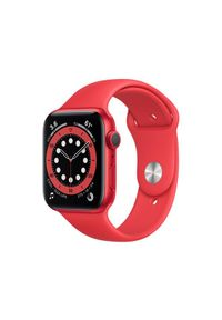 APPLE Watch Series 6 GPS, 44mm PRODUCT(RED) Aluminium Case with PRODUCT(RED) Sport Band - Regular. Styl: sportowy