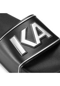 Czarne klapki Karl Lagerfeld na co dzień, casualowe