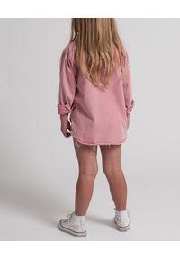 ONETEASPOON KIDS - Koszula z denimu różowa 5-14 lat. Kolor: wielokolorowy, fioletowy, różowy. Materiał: denim. Długość rękawa: długi rękaw. Długość: długie. Sezon: lato. Styl: elegancki