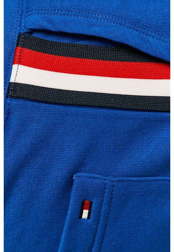 Niebieski sweter TOMMY HILFIGER z kapturem, na co dzień, casualowy