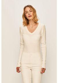 Biały sweter Brave Soul z długim rękawem, długi
