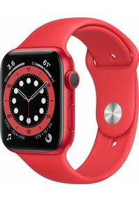 APPLE - Smartwatch Apple Watch Series 6 GPS 44mm Red Alu Red Loop Czerwony (M00M3FD/A). Rodzaj zegarka: smartwatch. Kolor: czerwony
