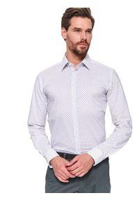 Biała koszula TOP SECRET na wiosnę, z długim rękawem