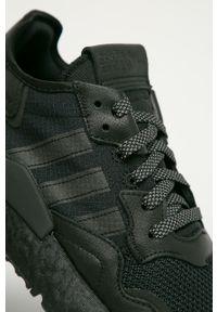 Czarne sneakersy adidas Originals na sznurówki, z cholewką