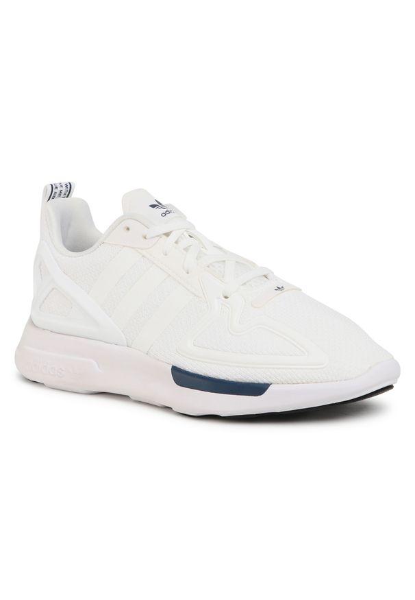 Białe półbuty Adidas casualowe, na co dzień