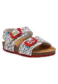 Białe sandały Garvalin