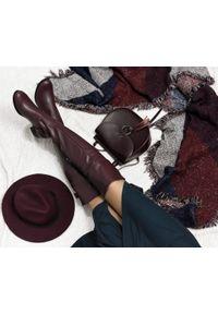 Czerwone kozaki Zapato na zimę, wąskie, z cholewką, eleganckie