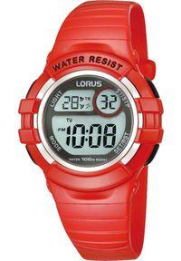 Czerwony zegarek Lorus