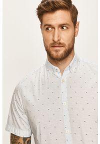 Niebieska koszula Tom Tailor Denim z krótkim rękawem, na co dzień