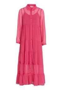 Happy Holly Sukienka maxi Elsie czerwonoróżowy female czerwony/różowy 48/50. Kolor: wielokolorowy, czerwony, różowy. Materiał: jersey, materiał. Długość rękawa: na ramiączkach. Styl: elegancki. Długość: maxi