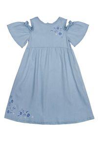 Niebieska sukienka Primigi casualowa, prosta