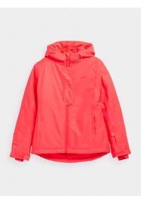 Czerwona kurtka narciarska 4f na zimę