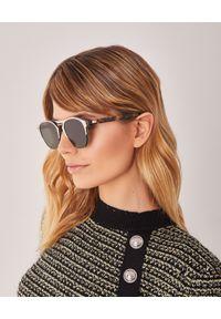 Dior - DIOR - Okulary Chrono. Kolor: brązowy. Materiał: materiał