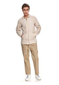 TOP SECRET - Cienka bluza z tkaniny. Kolor: beżowy. Materiał: tkanina. Długość rękawa: długi rękaw. Długość: długie. Sezon: lato