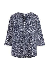 Cellbes Wzorzysta bluzka bawełniana z rękawem 3/4 niebieski w kropki female niebieski/ze wzorem 42/44. Kolor: niebieski. Materiał: bawełna. Długość: krótkie. Wzór: kropki