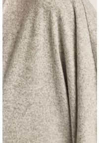 Szary sweter rozpinany Noisy may długi, z długim rękawem