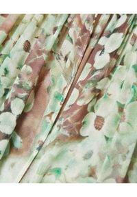 HEMISPHERE - Zielona sukienka we wzory. Kolor: zielony. Materiał: wiskoza. Wzór: kolorowy. Styl: elegancki. Długość: maxi