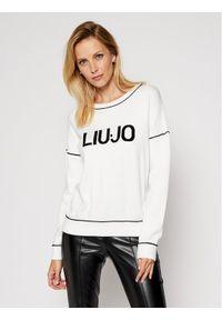 Biały sweter klasyczny Liu Jo Sport